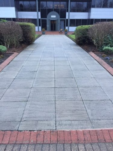 Cleaned paved area